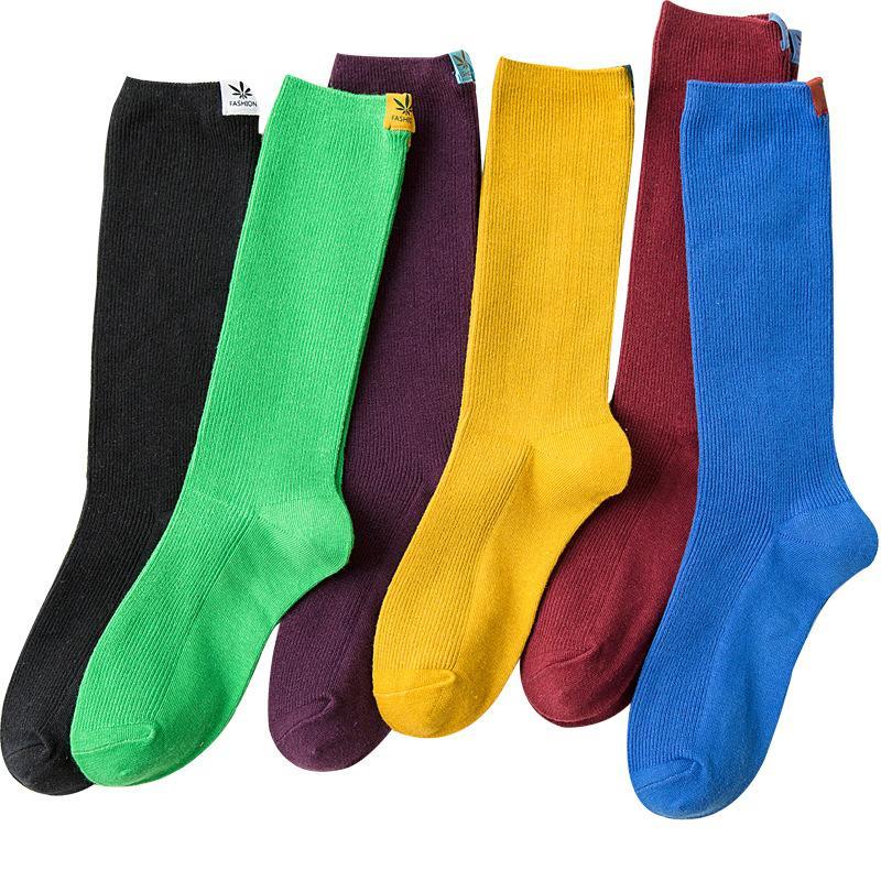 Unisex Plain Long Socks
