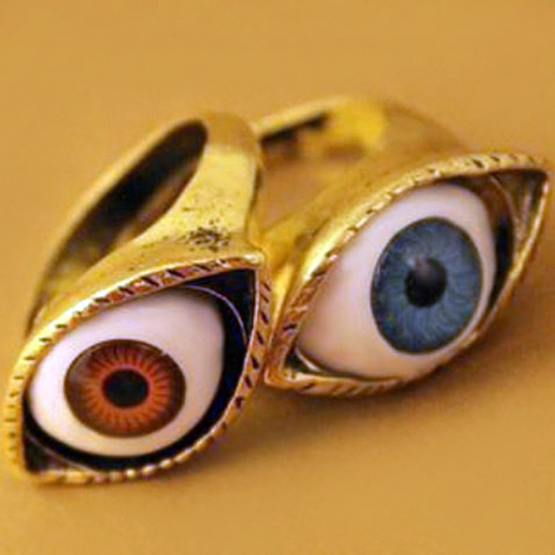 Vintage Eye Style Alloy Rings for Family Gatherings