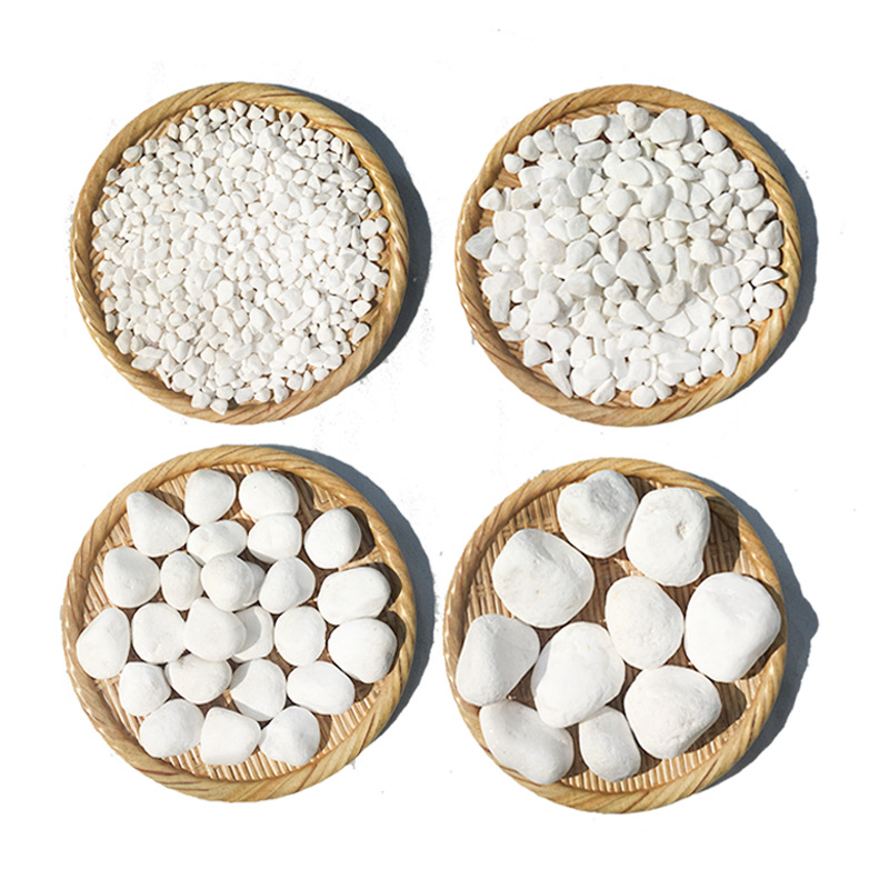 White Stone Pebble for Gardening and Fish Tank Decor