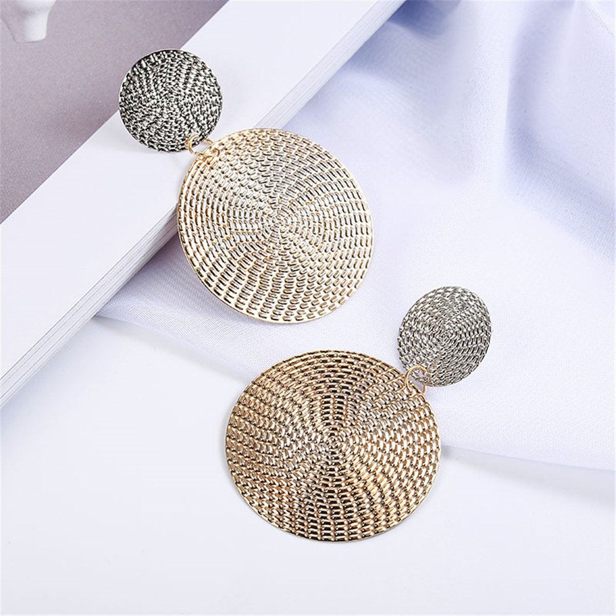 Elegant Disc Earrings
