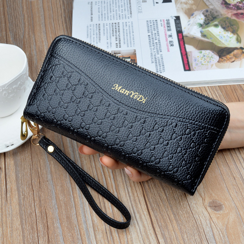 High-Quality Polyurethane Leather Large-Capacity Wallet for Cash and Cards