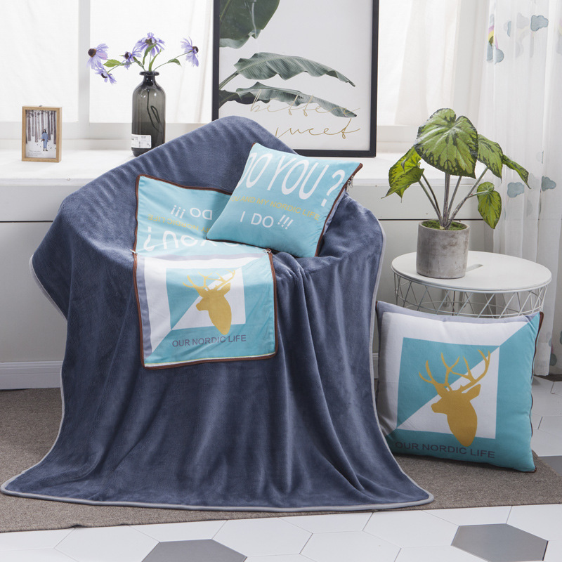 Vibrant Prints Pillowcase and Blanket Set Collection for Cozy Bedroom