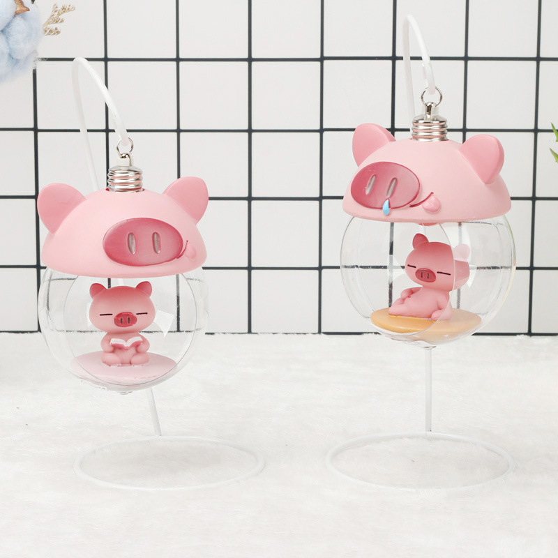 Striking Floating Pigs Lamp for Low Night Light