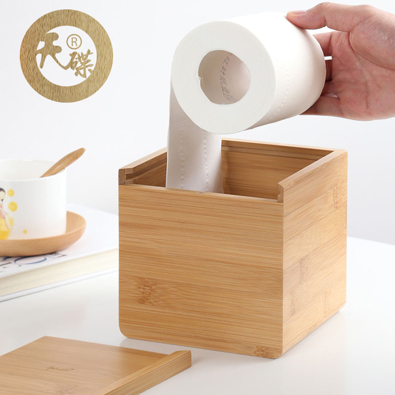 Square Roll Cartridge Tissue Box for Study Room Use