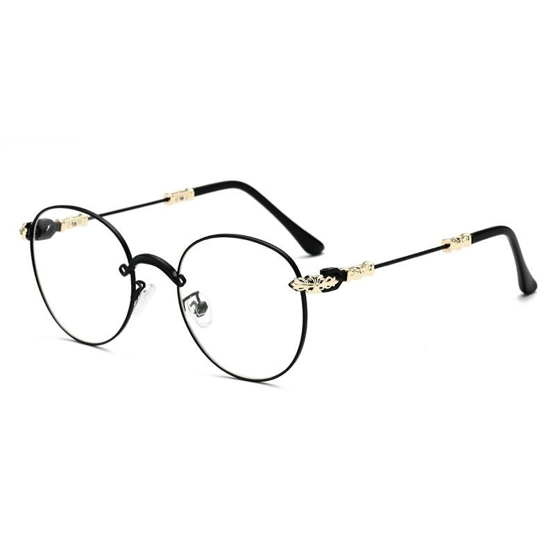 Baroque Style Hinge Round Sunglasses