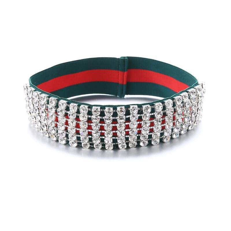Rhinestone Elastic Headband