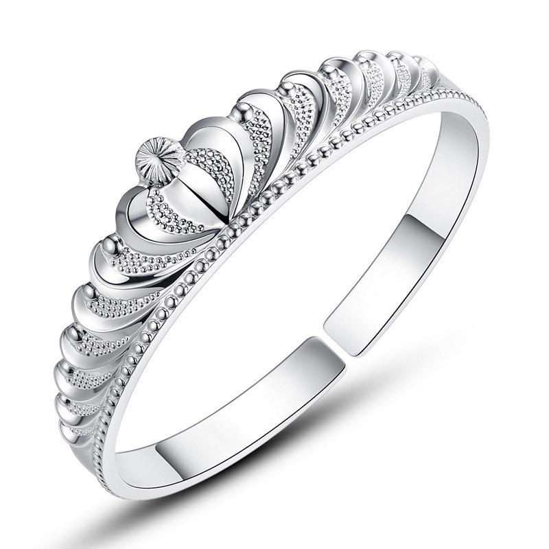 Tiara Silver Bangle
