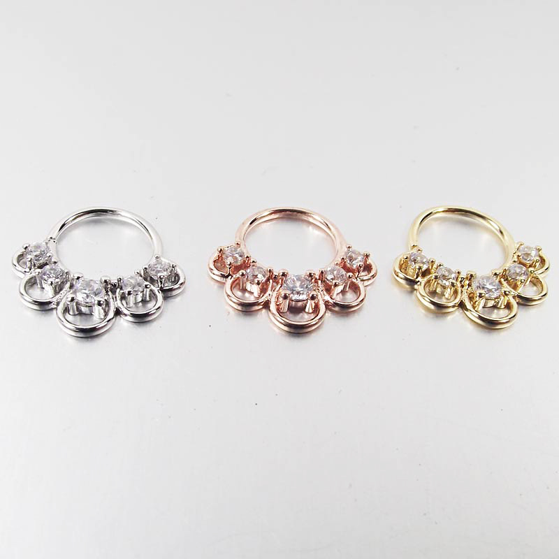 Posh Faux Zircon Nose Ring for Simple Gifts