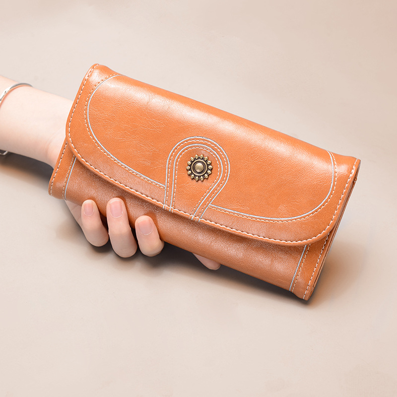 Fashionable Vintage Clutch Rectangle Wallet for Easy Handling