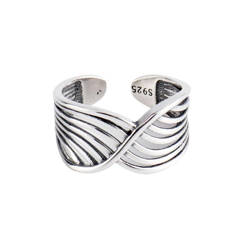 Strips Silver Ring