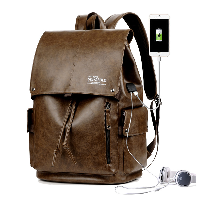 Spacious and Convenient Pure-Colored Backpack for Attending School