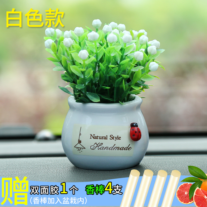 Hot Artificial Potted Plant Decor for Your Car's Dashboard