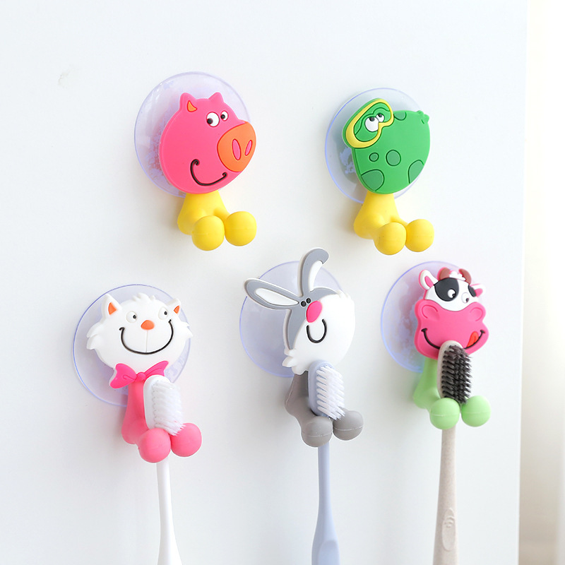 Cute  Animal Themed Suction Cup Toothbrush Holder for Kids