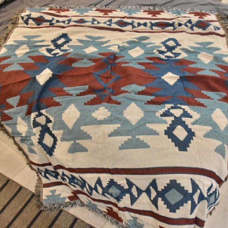 Fairisle Throw Blanket