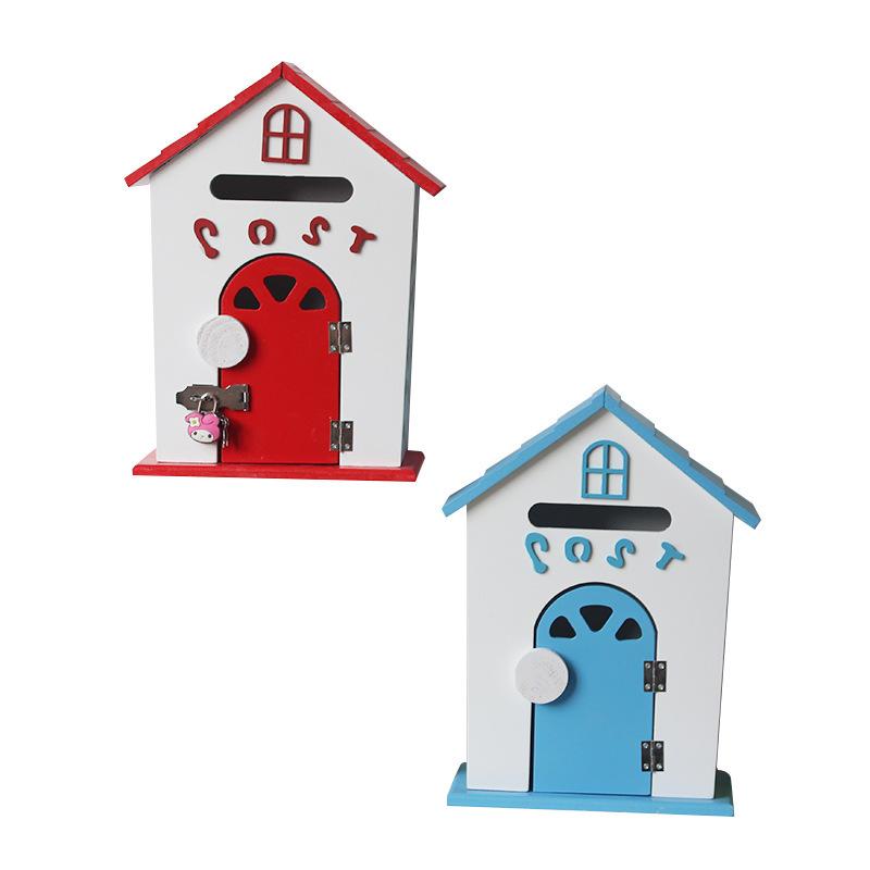 Miniature Schoolhouse Mailbox for Children's Keepsakes