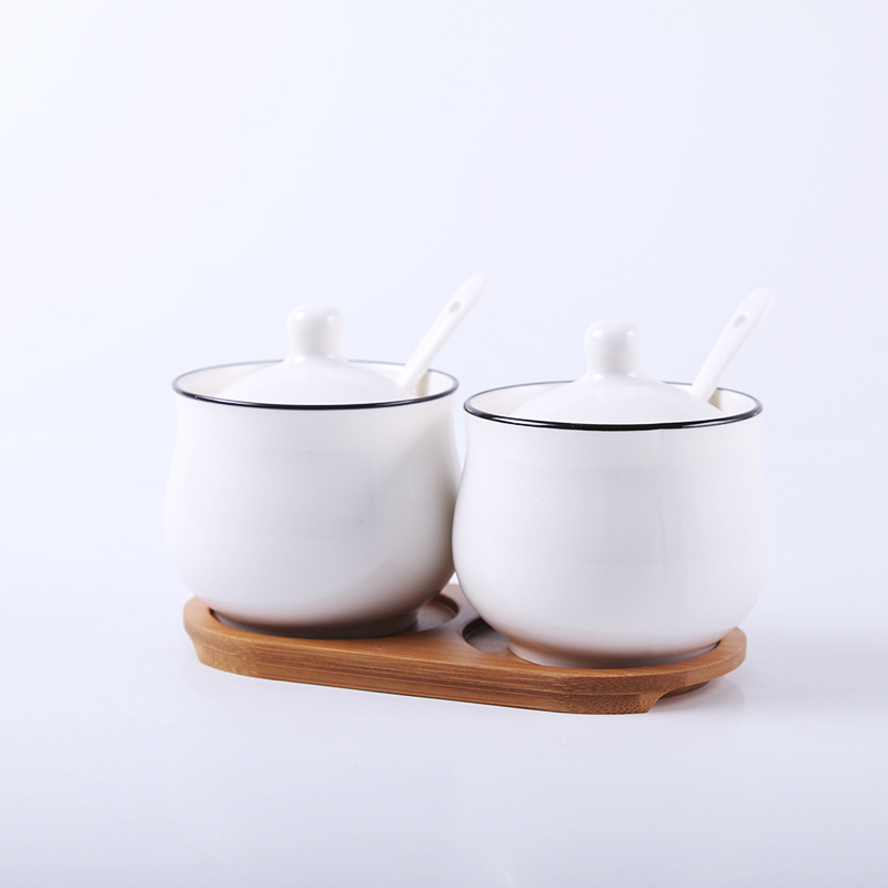 Amazing Three-Piece Ceramic Seasoning Compartments for At-Home Essentials