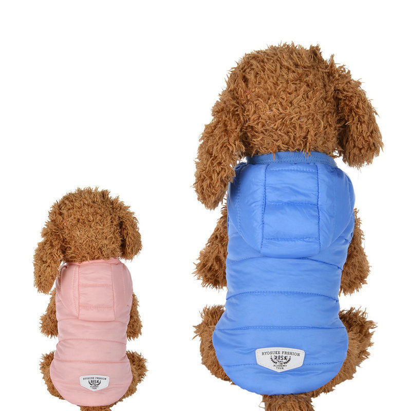 Warm Quilted Jacket with Hoodie for Pet Winter Season Clothing