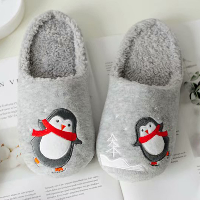 Comfy and Fluffy Winter-Themed Slippers for Holiday Cold Season
