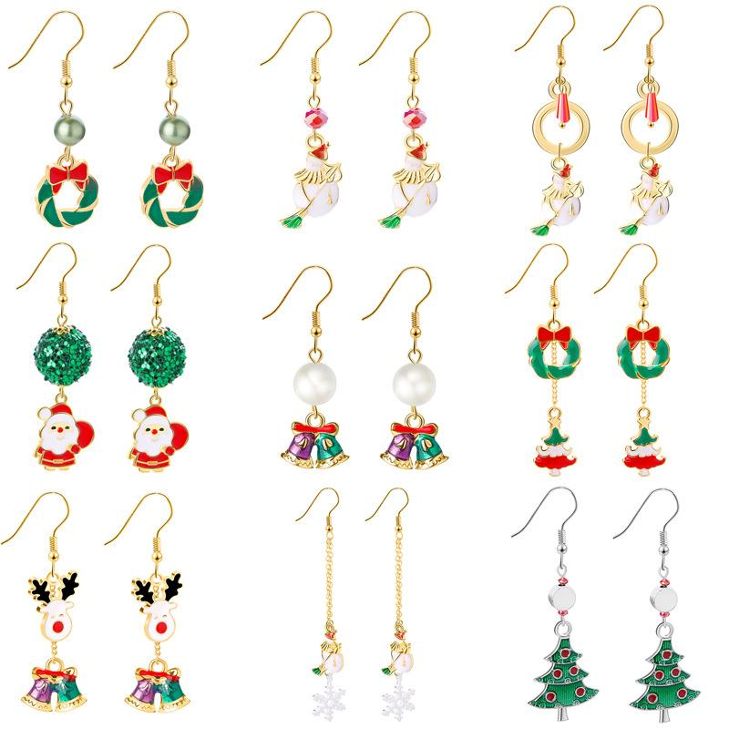 Festive Spirit Alloy Dangle Earrings