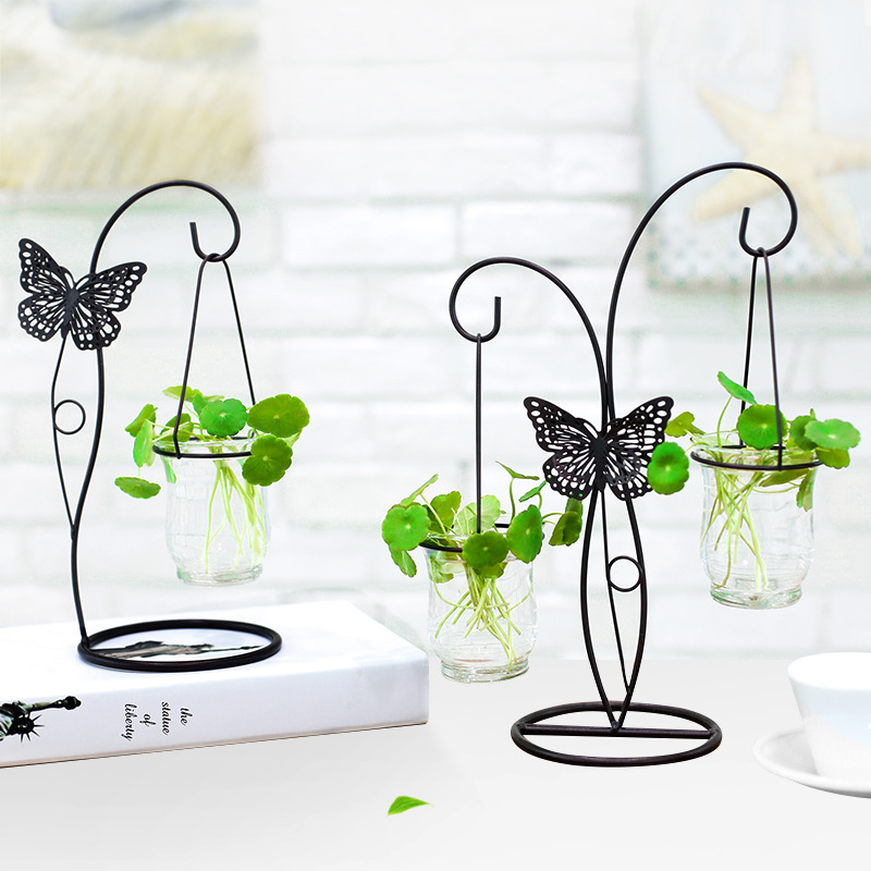 Modern Wire Butterfly Garden Hanging Vase for Modern Feminine Homes