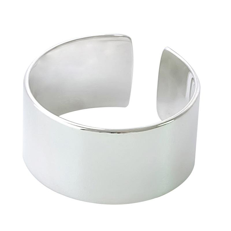 Wide Classic Silver Ring
