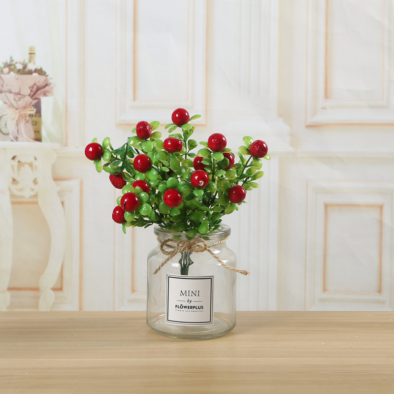 Simple High-Choke Glass Vase for Different Flowers