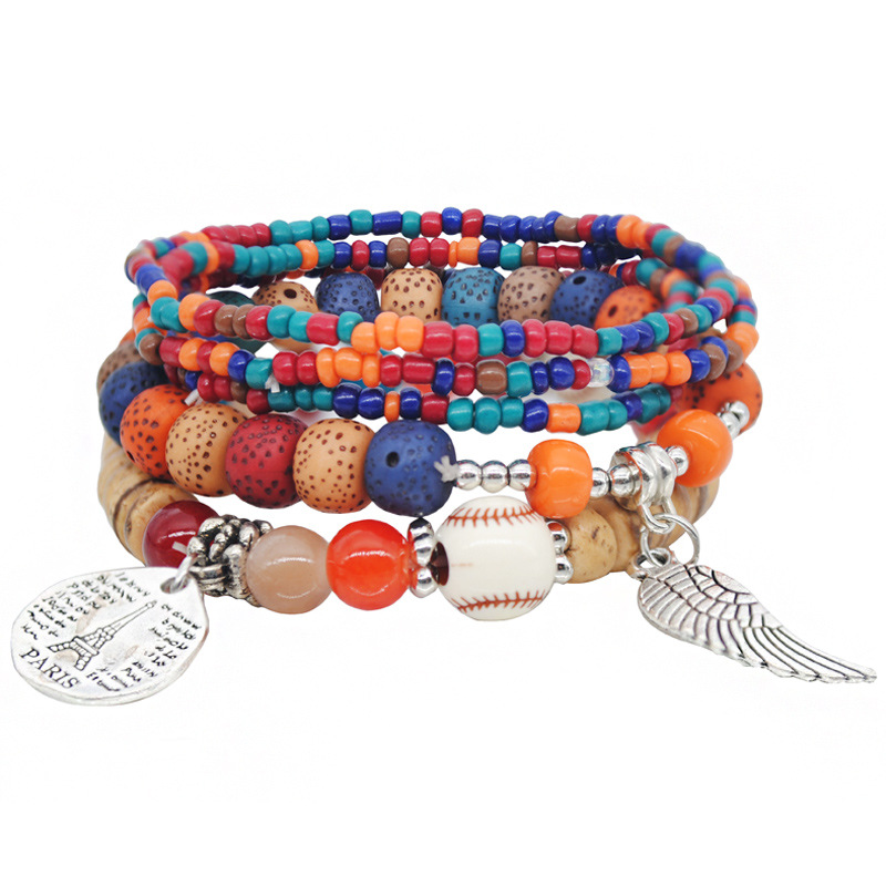 Multilayer Rice Beads Bracelet for Bohemian Style