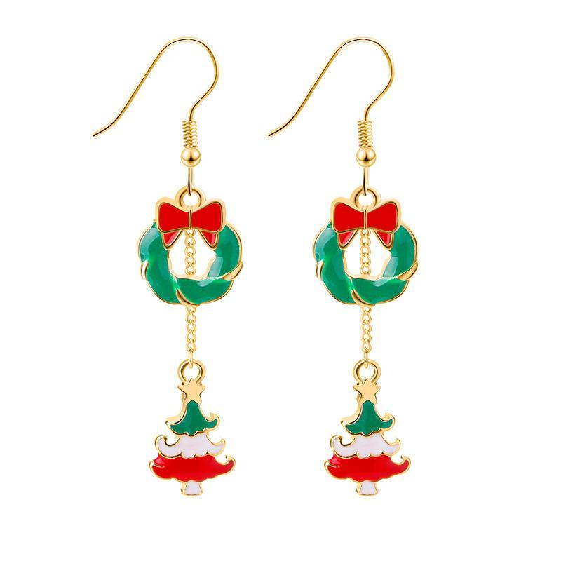 Festive Spirit Alloy Dangle Earrings