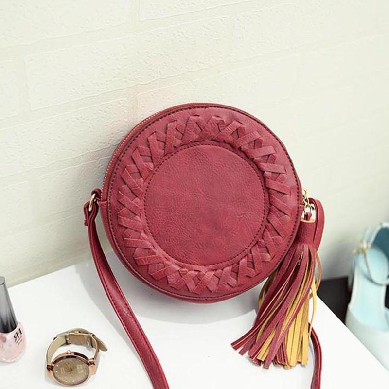 Chiore Circle Braid and Tassel Shoulder Bag