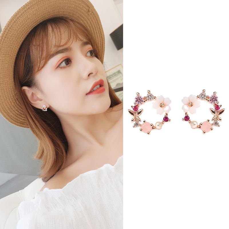 Sweet Flower Wreath Earrings