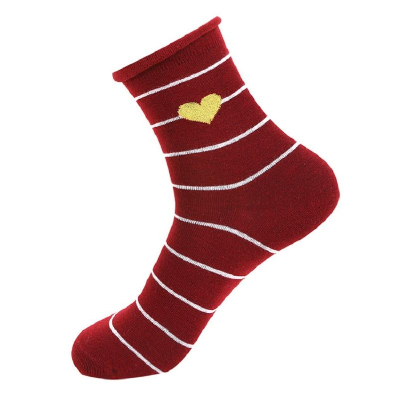 Heart Striped Ankle Socks (10 Pairs/Set)