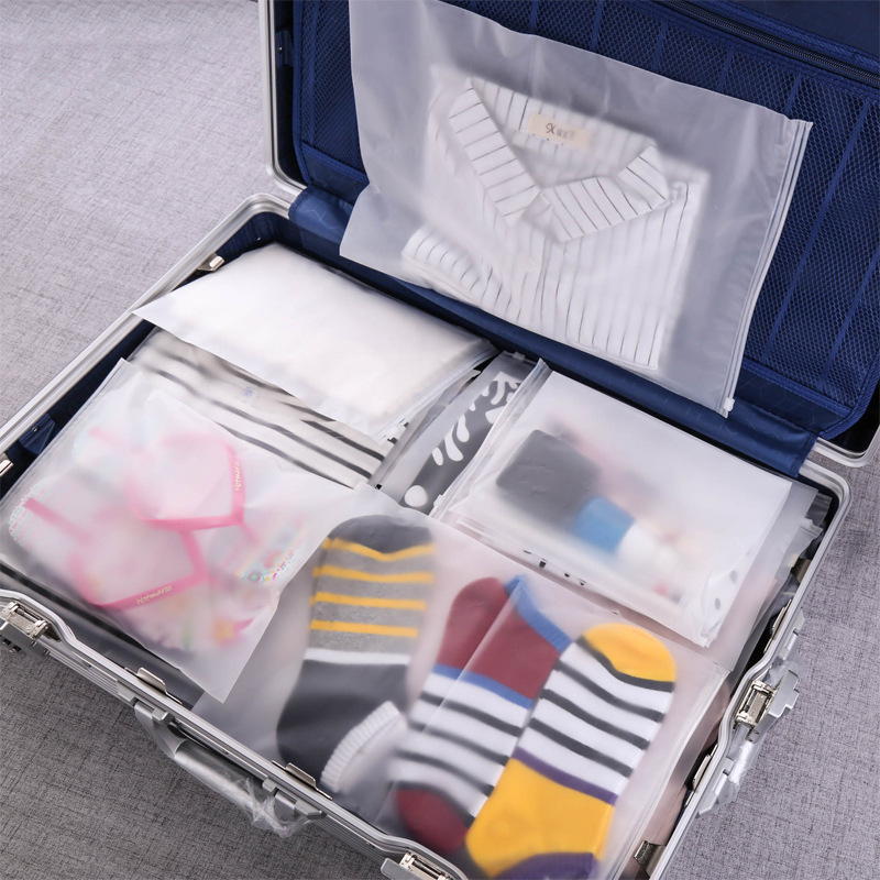 Clear Zip-Up Top Bags for Organizing Travel Luggage
