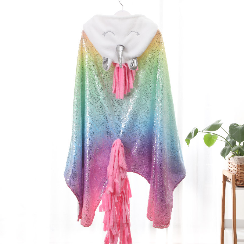 Unicorn Blanket Cape