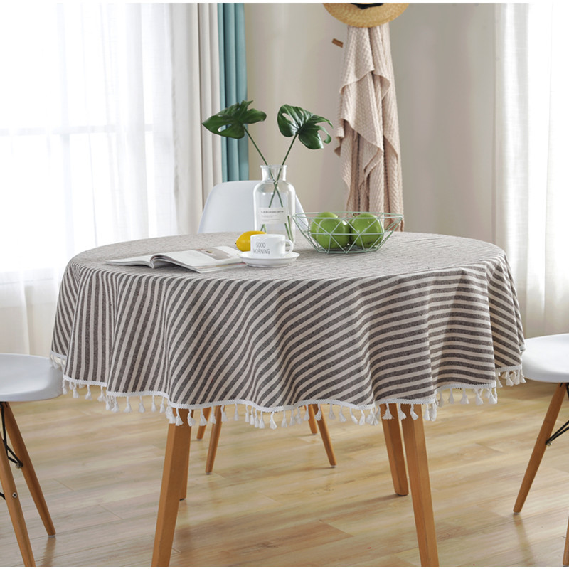 Plaid Style and Oilproof Tablecloth Use for Coffee Shops
