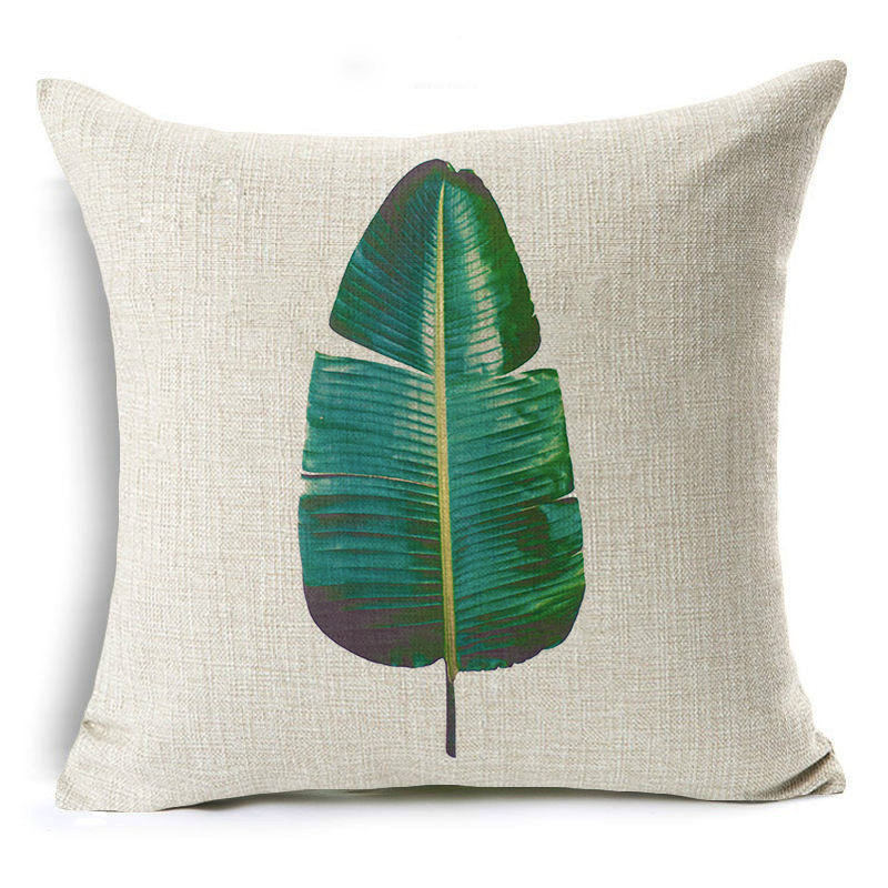 Aesthetic Leaves Patterns Pillowcase for Tropical Vibe