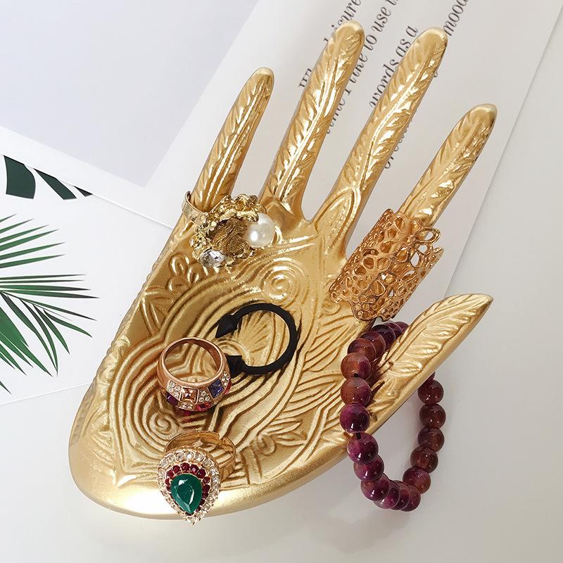 Bohemian Open Hand Resin Jewelry Holder