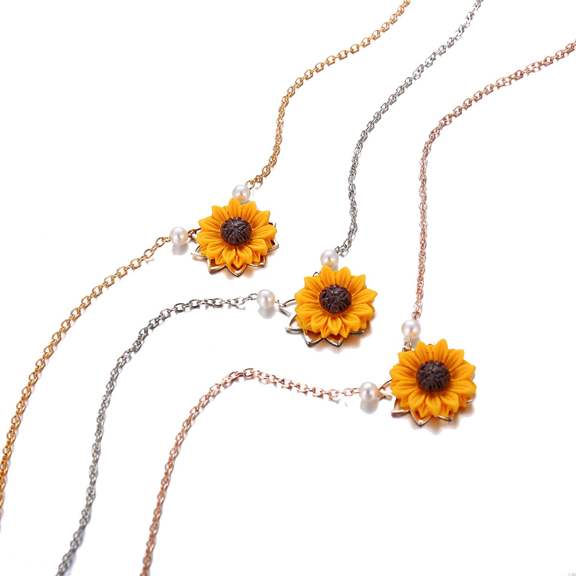 Full Bloom Sunflower Necklace