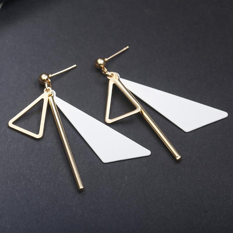 Pastel Triangle Long Earrings