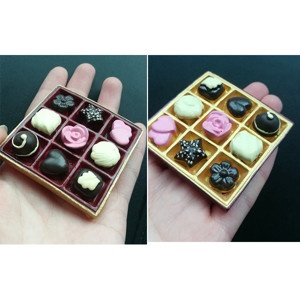 Three Dimensional Realistic Gift Box-Designed Resin Decorative Magnet for Fridge and Home Decoration