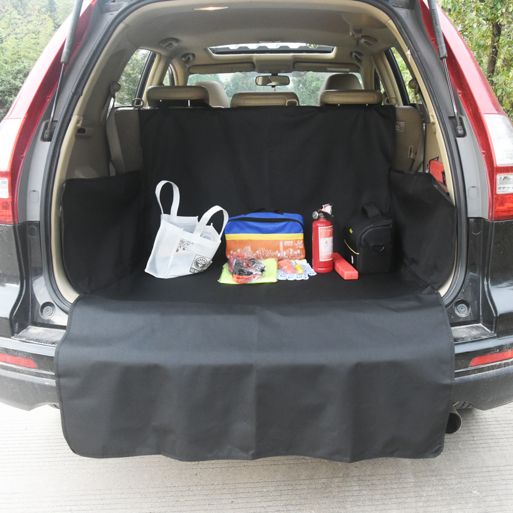 Sleek Stylish Removable Black Car Mat for Pets and Grocery Items