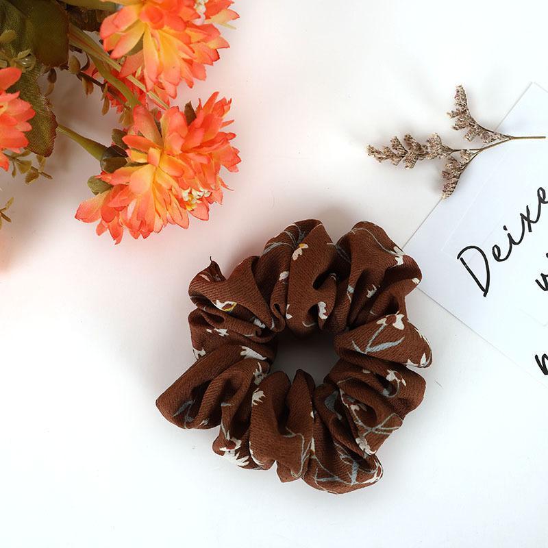 Classic Floral Hair Scrunchie