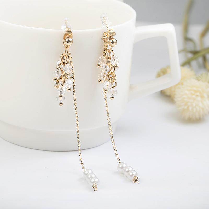 Drusie Long Earrings