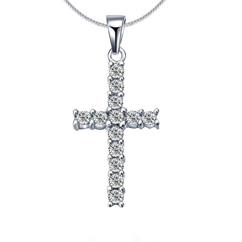 Western Style Hip-hip Classic Cross Necklace for Men's Fashion