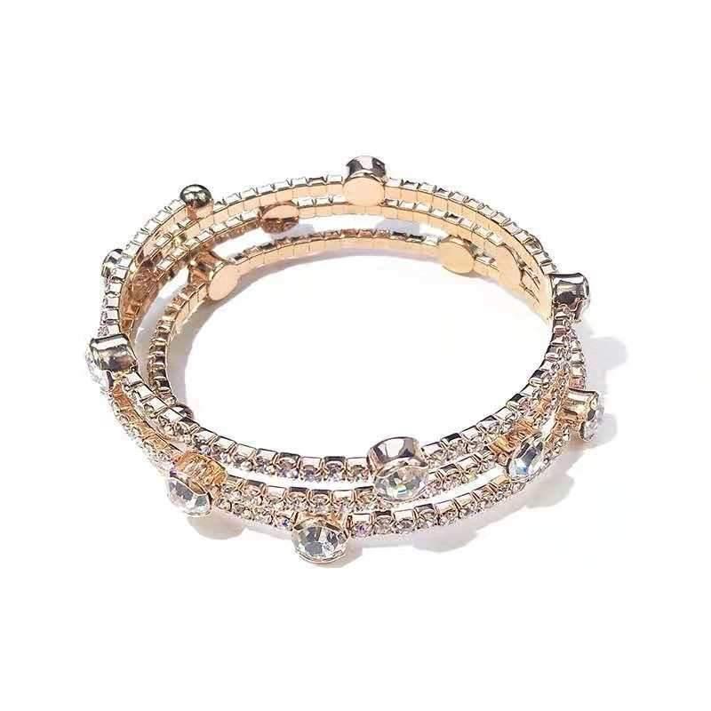 Wylda Three-Layer Crystal Bracelet