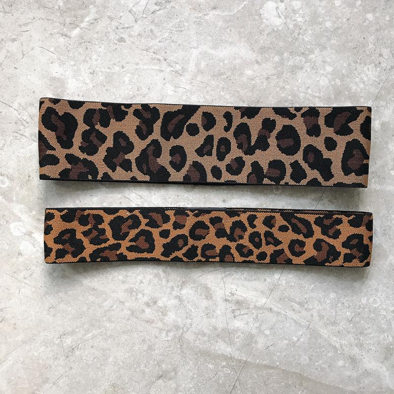 Retro Leopard Print Wide Headband for Street Fashion
