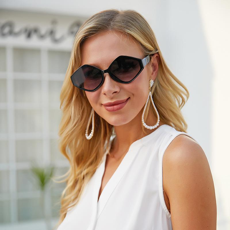 Small Frame Irregular Sunglasses for Summer