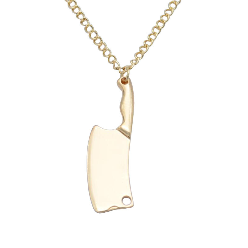 Alloy Butcher Knife Pendant Necklace for Swag Style
