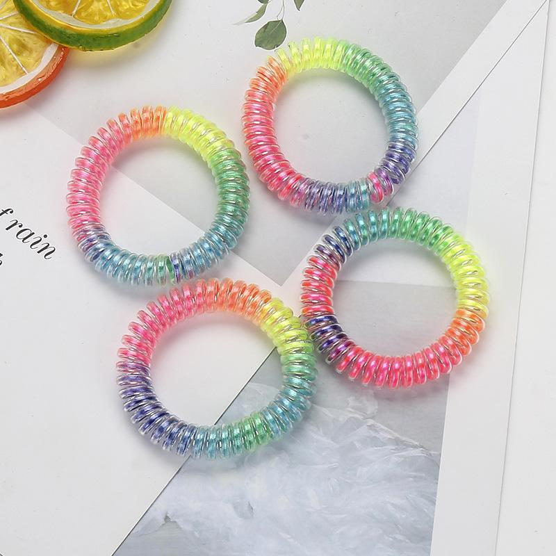 Gradient Rainbow Spiral Hair Tie