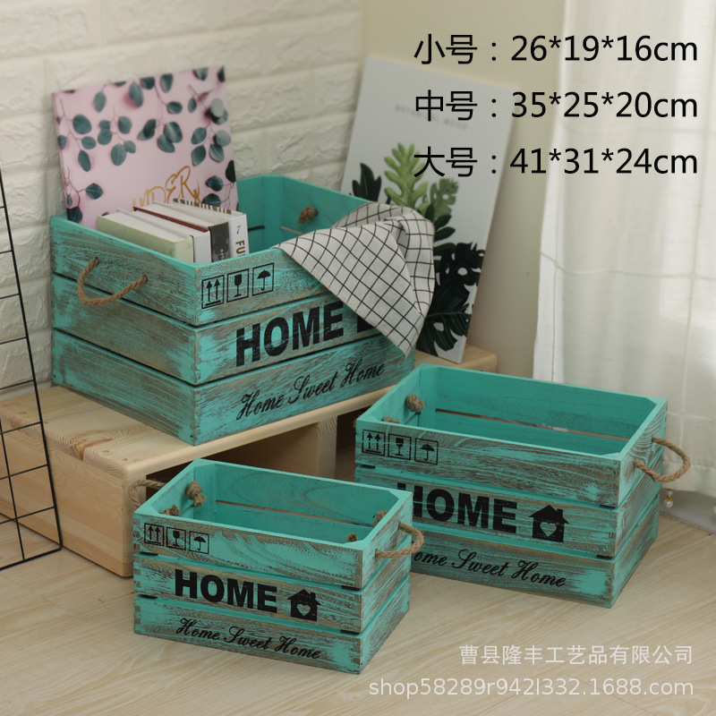 Durable Wooden Storage Box for Keeping Household Items