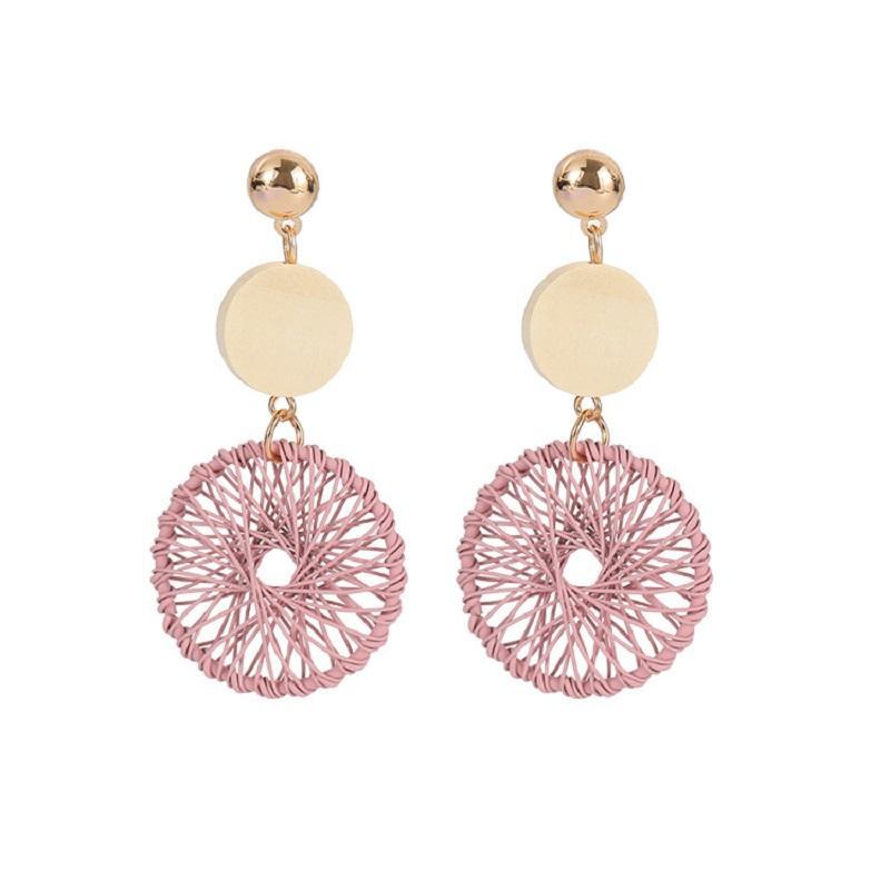 Wooden Circle Dream Catcher Earrings